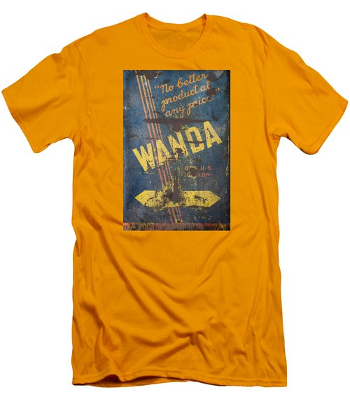 Wanda Motor Oil Vintage Sign Men's T-Shirt (Slim Fit) by Christina Lihani