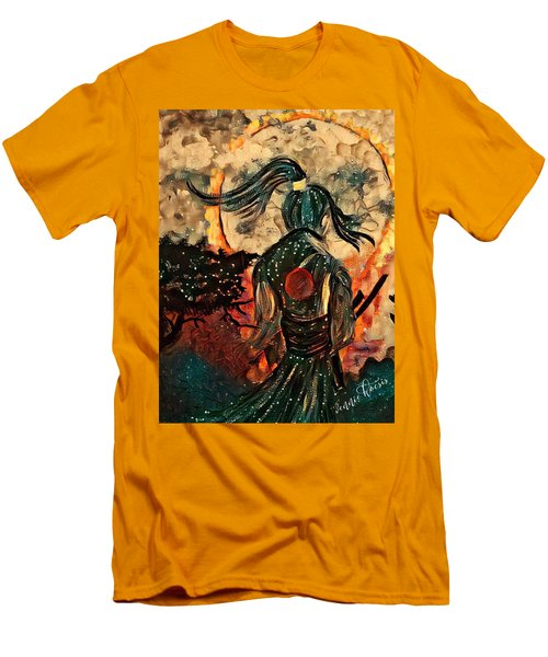 Warrior Moon Men's T-Shirt (Slim Fit) by Vennie Kocsis