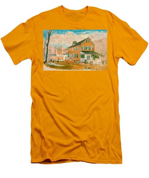 Washington D.c. Square 1874 Men's T-Shirt (Slim Fit) by Padre Art