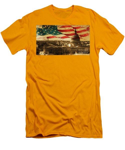 Washington Dc Usa 002 Men's T-Shirt (Slim Fit) by Gull G