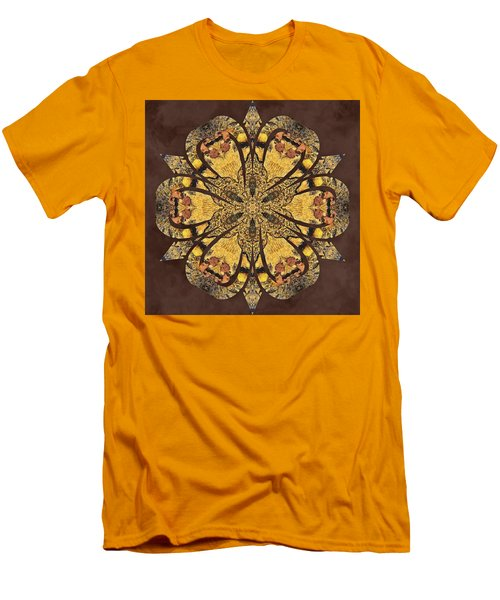 Men's T-Shirt (Athletic Fit) featuring the mixed media Water Glimmer 1 by Derek Gedney