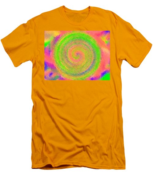 Men's T-Shirt (Slim Fit) featuring the digital art Water Melon Whirls by Catherine Lott
