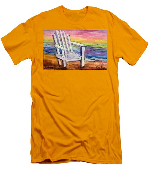 Watercolor White Chair Men's T-Shirt (Slim Fit)