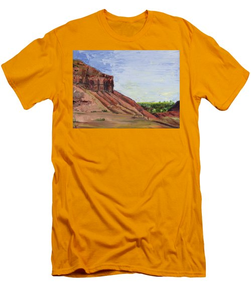 Men's T-Shirt (Slim Fit) featuring the painting Weber Sandstone by Jane Autry