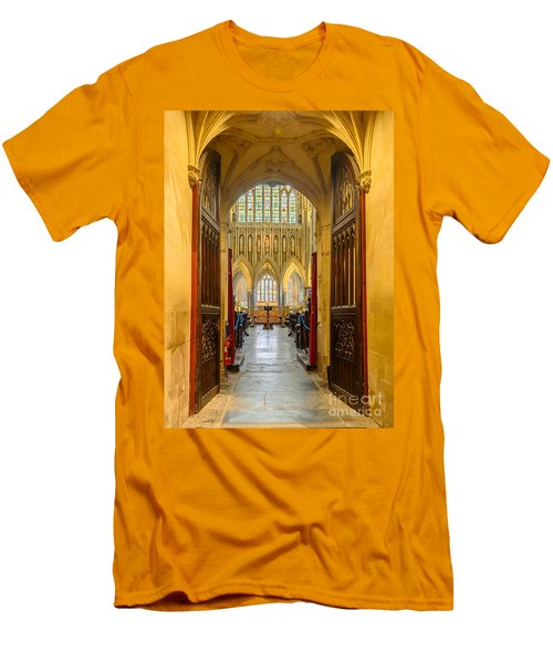Wellscathedral, The Quire Men's T-Shirt (Slim Fit) by Colin Rayner