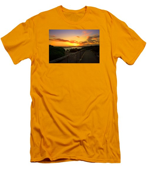 Men's T-Shirt (Slim Fit) featuring the photograph While You Walk by Miroslava Jurcik