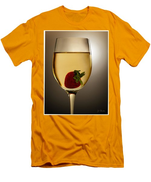 Men's T-Shirt (Slim Fit) featuring the photograph Wild Strawberry by Joe Bonita