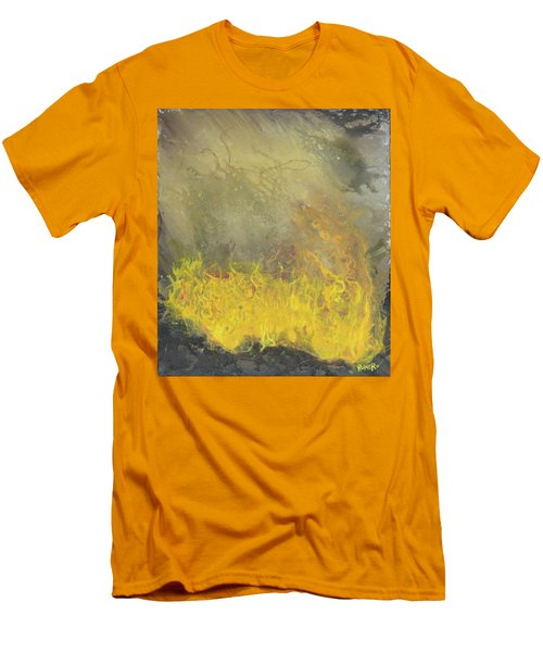 Men's T-Shirt (Athletic Fit) featuring the painting Wildfire by Antonio Romero