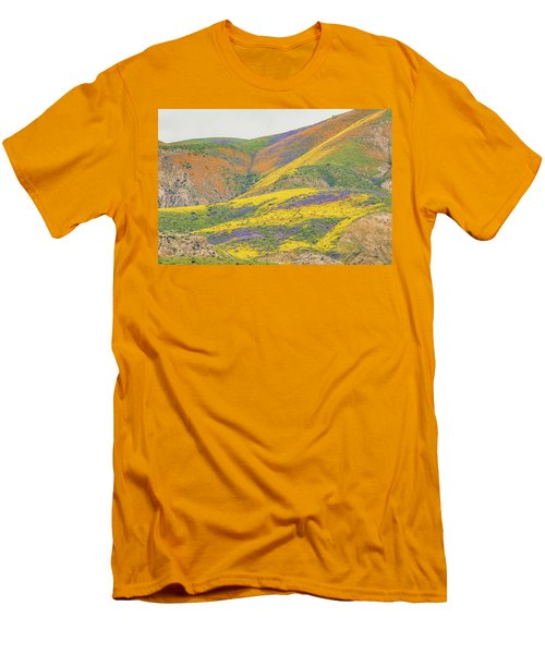 Men's T-Shirt (Slim Fit) featuring the photograph Wildflowers At The Summit by Marc Crumpler
