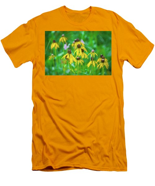 Men's T-Shirt (Athletic Fit) featuring the photograph Wildflowers Of Yellow by Bill Pevlor