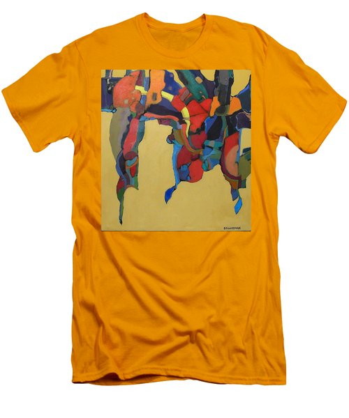 Men's T-Shirt (Slim Fit) featuring the painting Windsong by Bernard Goodman