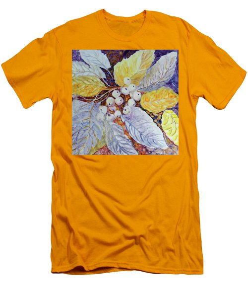 Men's T-Shirt (Slim Fit) featuring the painting Winter Berries by Joanne Smoley