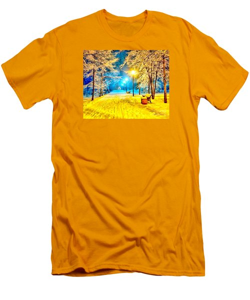 Winter Street Men's T-Shirt (Slim Fit) by Catherine Lott