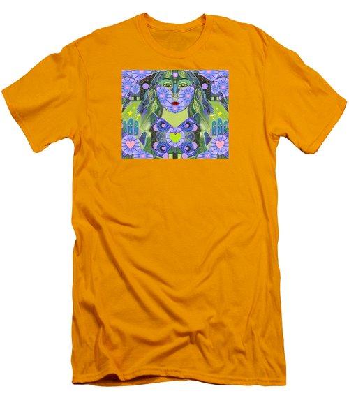 Wisdom Rising Men's T-Shirt (Slim Fit) by Helena Tiainen