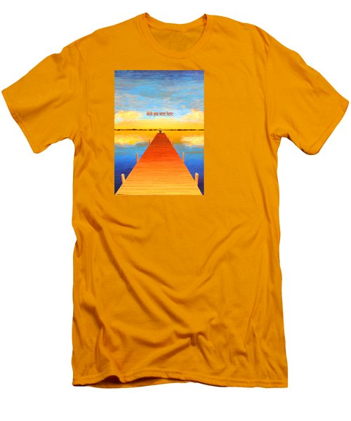 Wish - Pier - Greeting Card Men's T-Shirt (Athletic Fit)