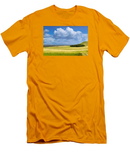 Wood Copse On A Hill Men's T-Shirt (Slim Fit) by John Williams