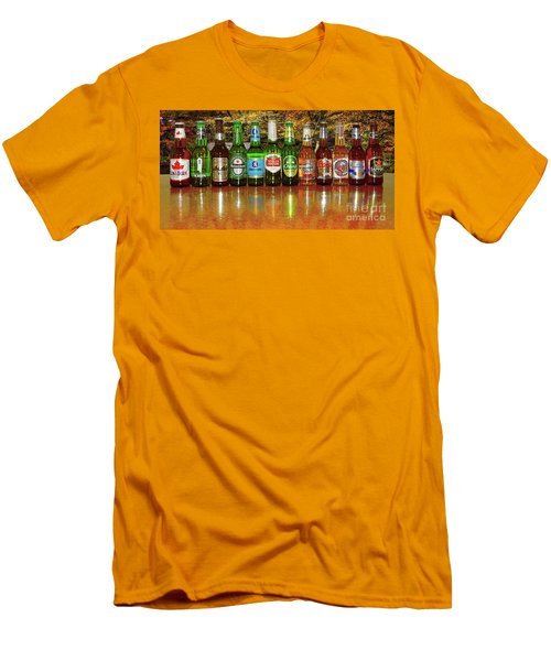 Men's T-Shirt (Athletic Fit) featuring the photograph World Beers By Kaye Menner by Kaye Menner