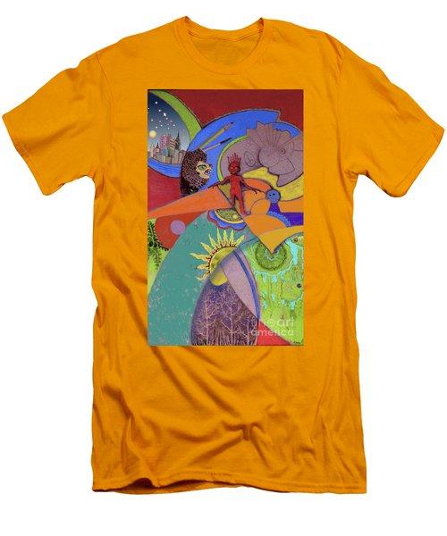 World View Men's T-Shirt (Slim Fit) by Carol Jacobs