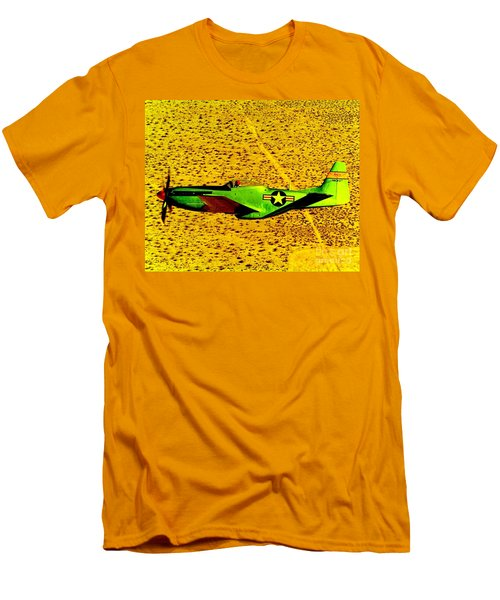 Wwll P51 Mustang  Men's T-Shirt (Athletic Fit)