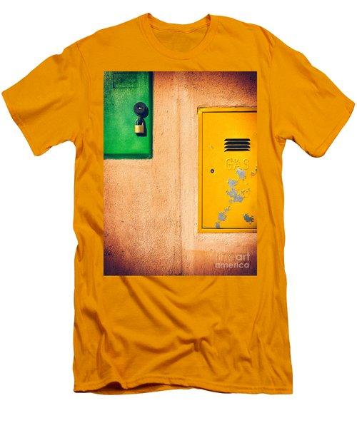 Men's T-Shirt (Slim Fit) featuring the photograph Yellow And Green by Silvia Ganora