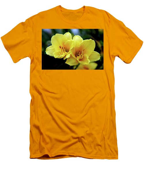 Yellow Daylilly 0204 H_2 Men's T-Shirt (Athletic Fit)