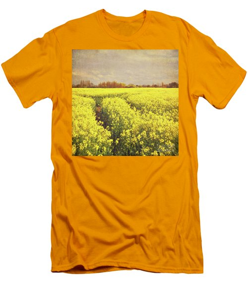Yellow Field Men's T-Shirt (Athletic Fit)