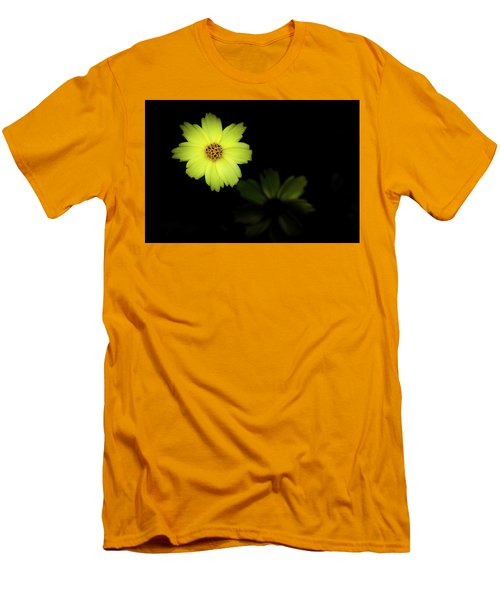 Yellow Flower Men's T-Shirt (Slim Fit) by Jay Stockhaus