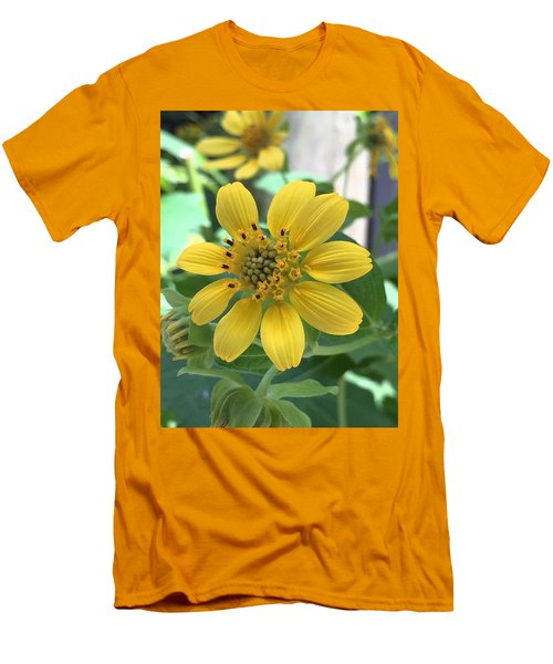Yellow Flower Men's T-Shirt (Slim Fit) by Kay Gilley