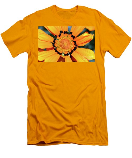 Men's T-Shirt (Athletic Fit) featuring the photograph Yellow Gazania By Kaye Menner by Kaye Menner