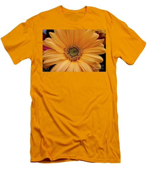 Yellow Gerbera Daisy Men's T-Shirt (Slim Fit) by Ivete Basso Photography