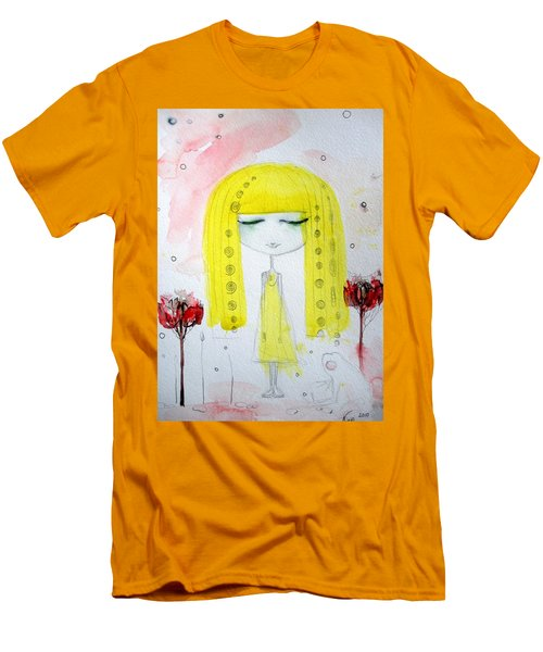 Yellow Hair Girl  Men's T-Shirt (Athletic Fit)