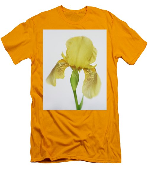 Men's T-Shirt (Slim Fit) featuring the photograph Yellow Iris A Symbol Of Passion by David and Carol Kelly