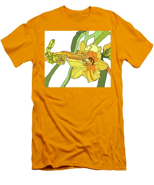 Yellow Lily And Bud, Graphic Men's T-Shirt (Slim Fit) by Jamie Downs