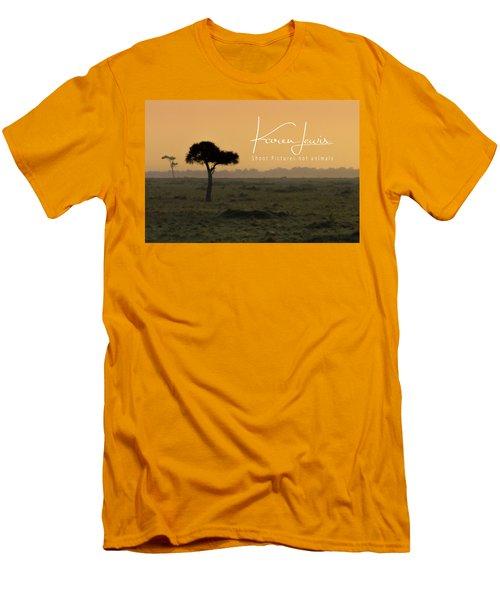 Men's T-Shirt (Slim Fit) featuring the photograph Yellow Mara Dawn by Karen Lewis