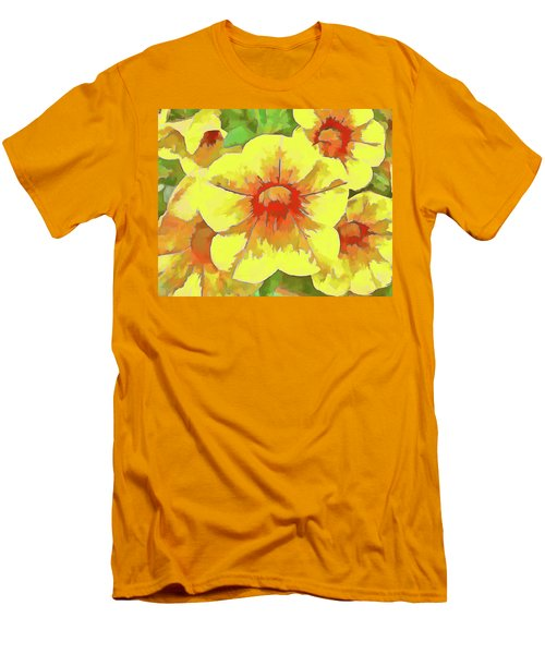 Yellow Million Bells Men's T-Shirt (Athletic Fit)
