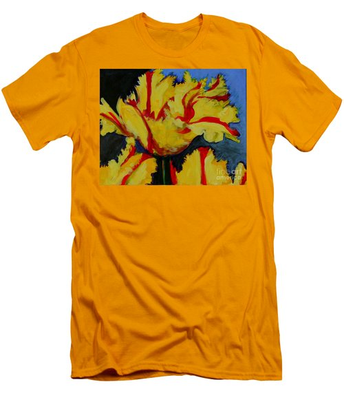 Yellow Parrot Men's T-Shirt (Athletic Fit)