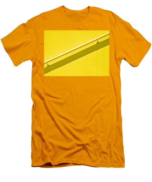 Yellow Rail Men's T-Shirt (Slim Fit) by Josephine Buschman