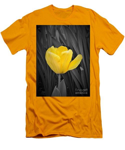 Yellow Tulip Men's T-Shirt (Athletic Fit)