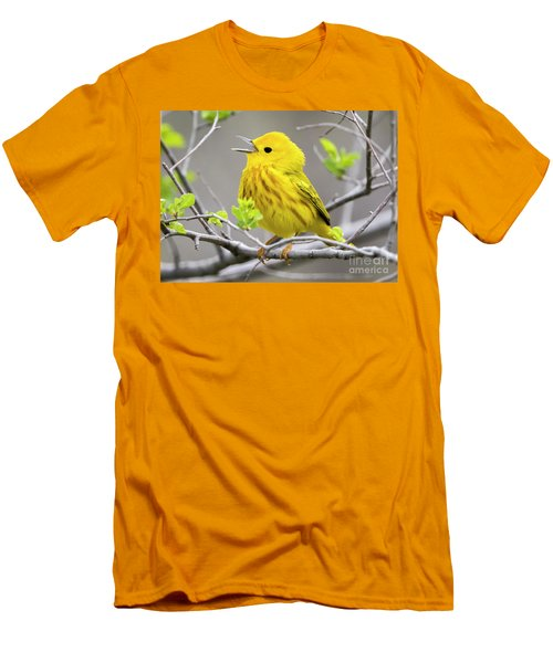 Yellow Warbler  Men's T-Shirt (Slim Fit) by Ricky L Jones