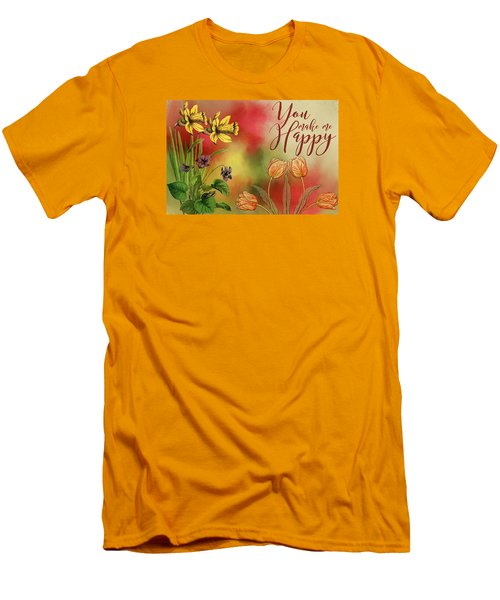 You Make Me Happy Men's T-Shirt (Slim Fit) by Diana Boyd