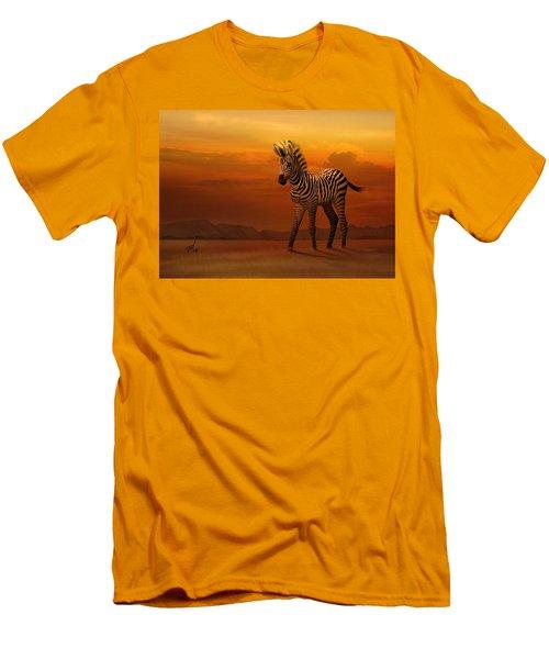 Zebra Fawn  Men's T-Shirt (Athletic Fit)