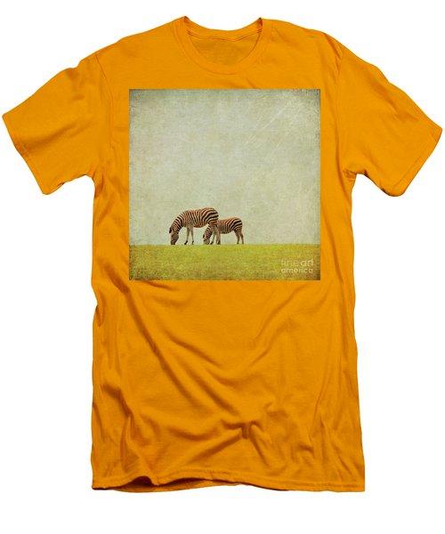 Zebra Men's T-Shirt (Slim Fit) by Lyn Randle