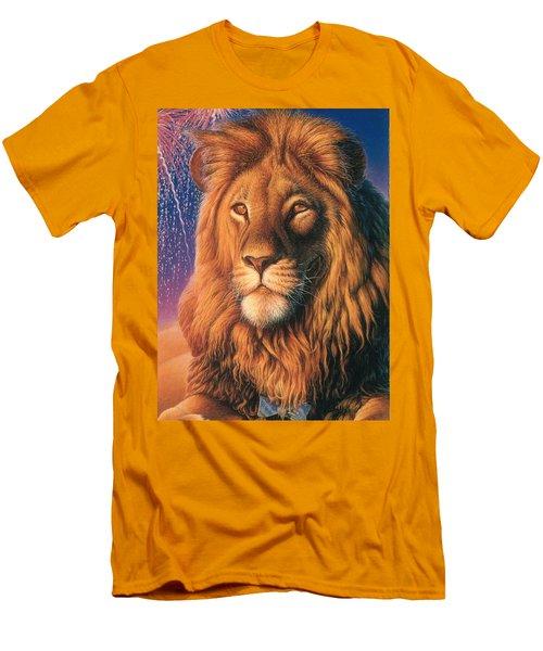 Zoofari Poster The Lion Men's T-Shirt (Slim Fit) by Hans Droog