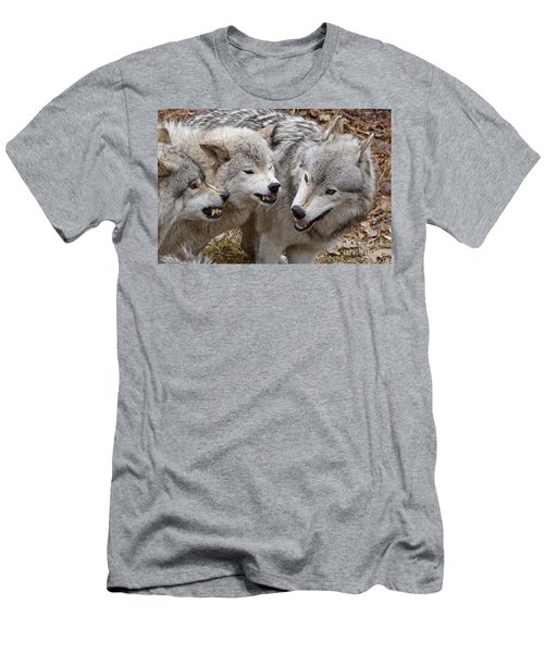 Men's T-Shirt (Slim Fit) featuring the photograph  Alpha Displeasure 2 by Wolves Only