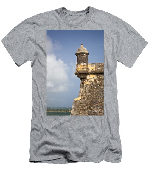 Fortified Walls And Sentry Box Of Fort San Felipe Del Morro Men's T-Shirt (Athletic Fit)
