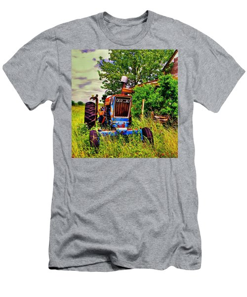 Old Ford Tractor Men's T-Shirt (Slim Fit) by Savannah Gibbs