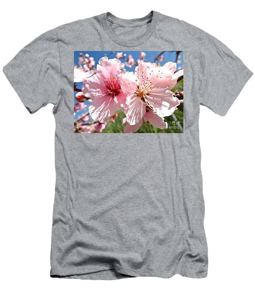 Peach Blossom Men's T-Shirt (Slim Fit) by Clare Bevan