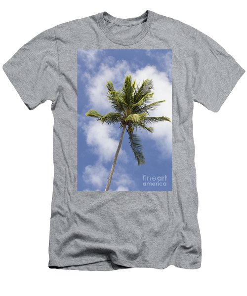 Men's T-Shirt (Athletic Fit) featuring the photograph  Sky And Palm Tree With Coconuts by Bryan Mullennix