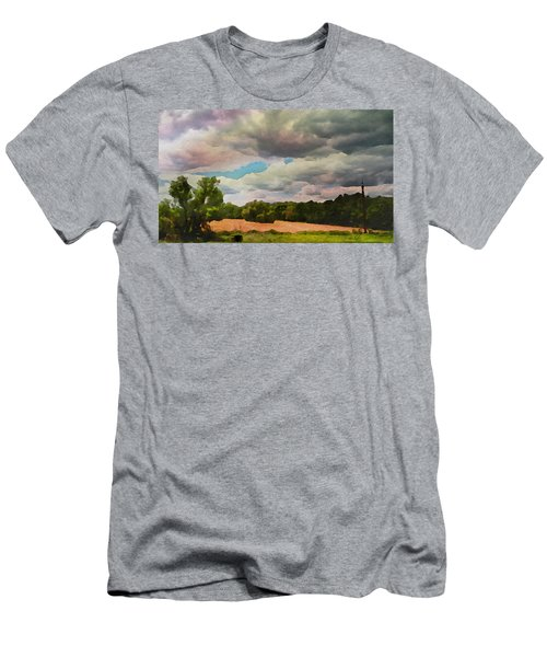 Men's T-Shirt (Athletic Fit) featuring the painting  Tennessee Landscape by Joan Reese