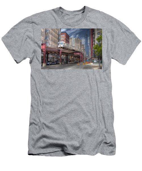 0489 Wabash Avenue Chicago Men's T-Shirt (Athletic Fit)